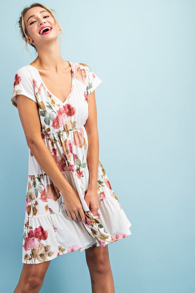 The Lily Floral Tiered Dress-2 Colors!