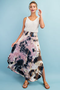 PRE-ORDER ITEM!! Gurl On Fire Tie Dye Smocked Maxi Skirt- 2 Colors!