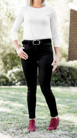 Get it Girl Black Super Skinny High Rise Jeans