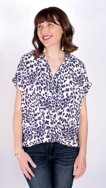 Take Time Off Twist Front Leopard Top