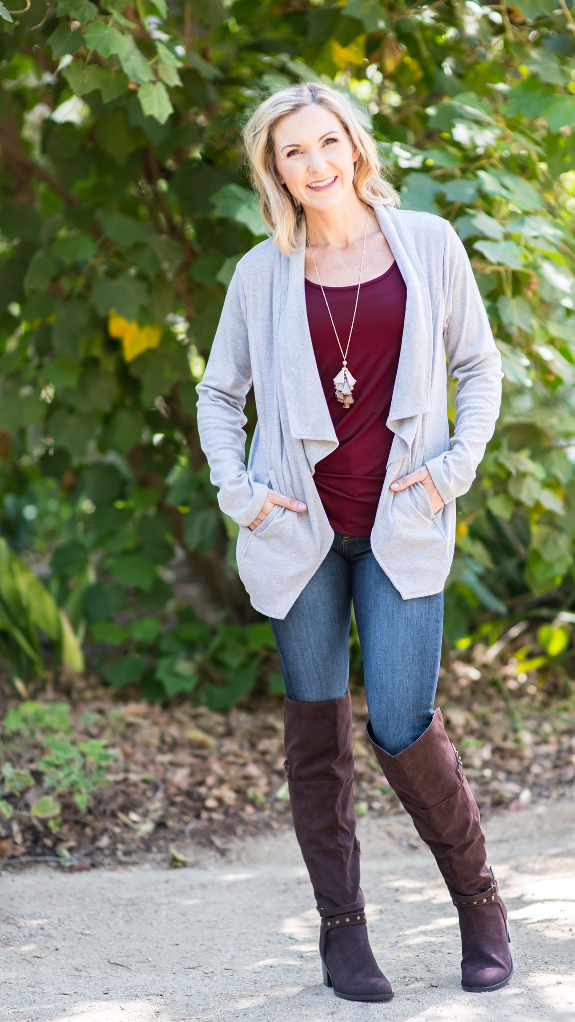 Denver Lace Back Shawl Cardigan-2 Colors