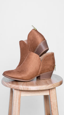 Basic Babe Bootie- Camel