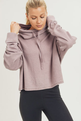 Afternoon Chic Boxy Cowl Neck Pullover Top- 2 Colors!