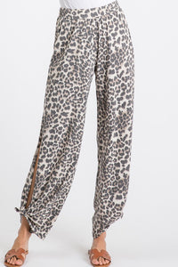 The Callie Cheetah Split Side Pants