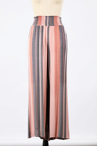 The Terra Striped Smocked Wide Leg Pant