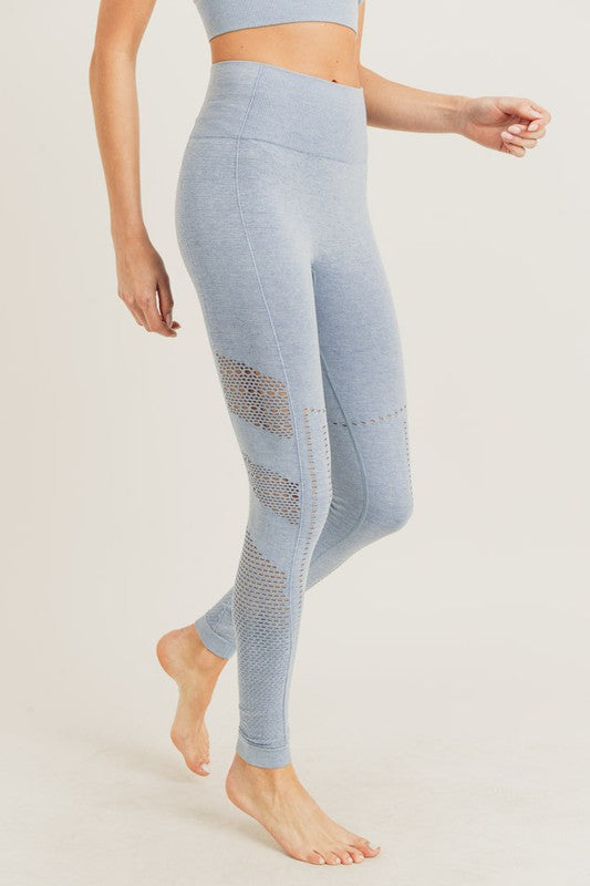 Iced Azure Seamless High Rise Leggings