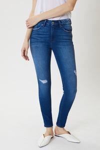 The Heather High Rise Distressed Ankle Skinny Jean