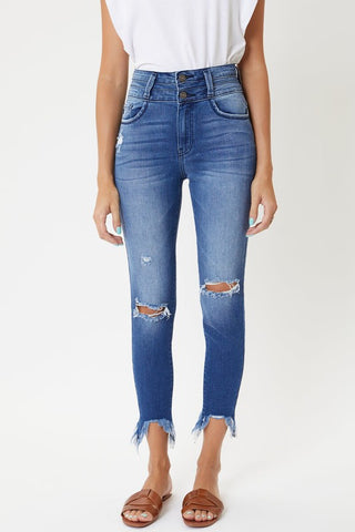 RESTOCKED!! The Emily High Rise Ankle Skinny Jean