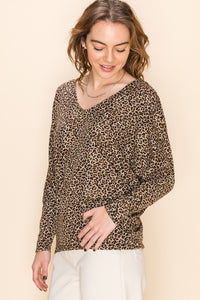 Essential Babe Leopard Dolman Top