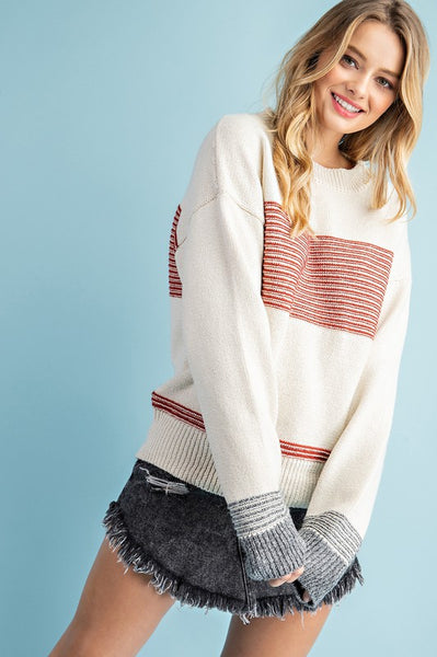 Not Your Boyfriend's Mixed Stripe Sweater