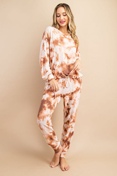 Copper Haze Cinch Top Lounge Set
