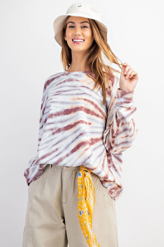 The Tigers Eye Plum Tie Dye Pullover