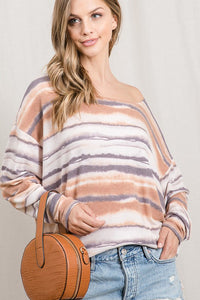 Inca Striped Long Sleeve Dolman Top