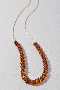 Amber Glows String Beaded Necklace