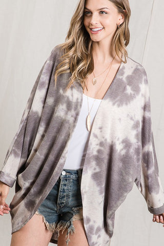 HOT PRICE!! The Tara Charcoal Tie Dye Batwing Cardigan
