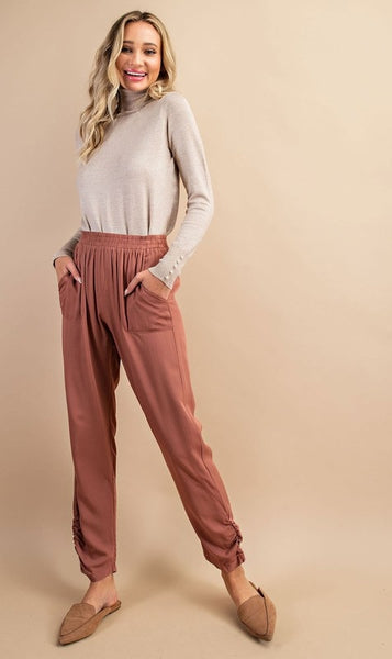 It's a Date Cinched Straight Leg Pants-2 Colors!