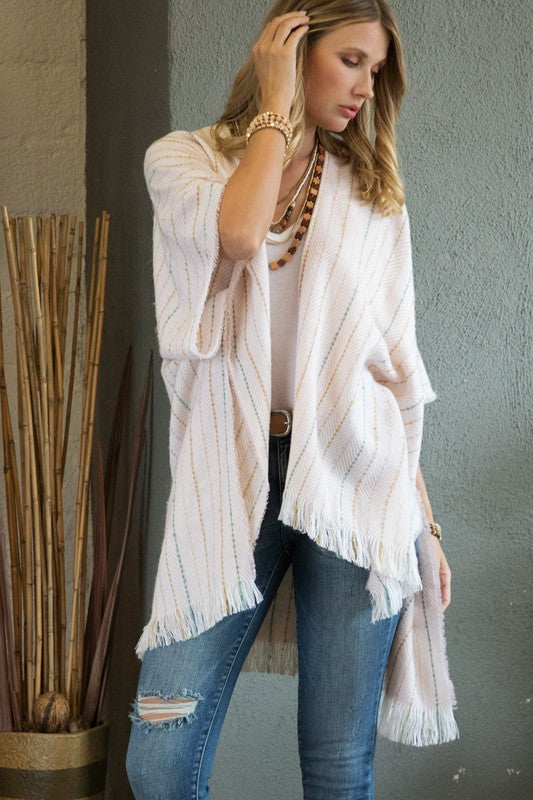 Striped Stitch Ultra Soft Kimono