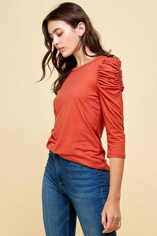 RESTOCKED!! Essential Babe Frilled Detailed Sleeve Top- 3 Colors!