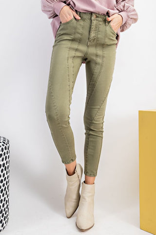 Make It So Stretchy Skinny Colored Twill Jeans-2 Colors!