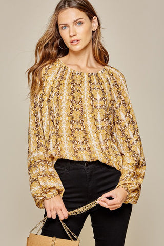 Rays of Marigold Modern Print Top