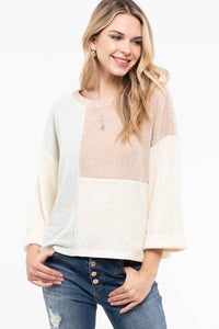 Glacier Color Block Sweater Top