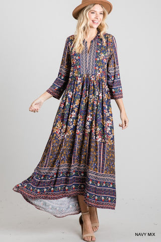 Happy Daze Floral Baby Doll Maxi Dress