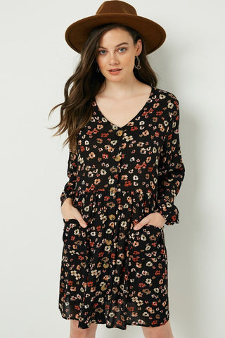 PRE-ORDER ITEM!!! Basically Boho Rust Floral Print Dress