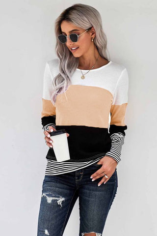 Fresh Start Color Block Thermal Top