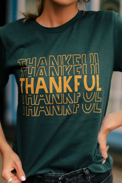 Thankful On Repeat Graphic Tee