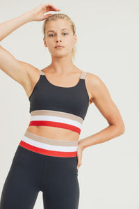 Top It Off Irish coffee Tricolor Sports Bra