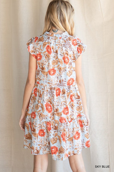 Daytime Dreams Floral Mock Neck Dress