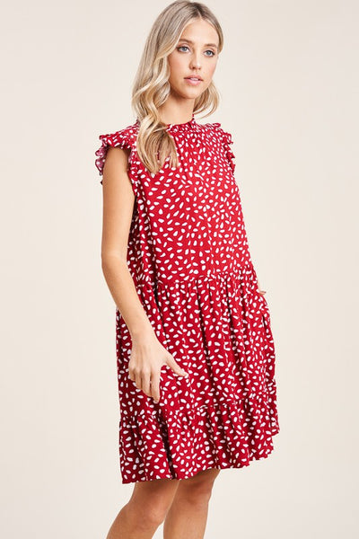 LOW STOCK!! The Rosie Scott Spotted Red Dress