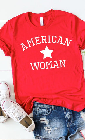 PRE-ORDER!! American Woman Graphic Tee