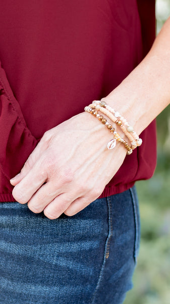 Stretch Bead Bracelet Set- 2 Colors!!