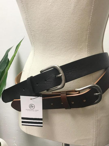 The Real Deal Leather Belt- 2 Colors