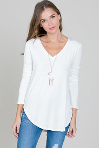 Layered Babe V Neck Tunic Top- 4 Colors!