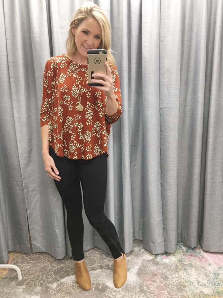 Favorite Floral Batwing Knit Top