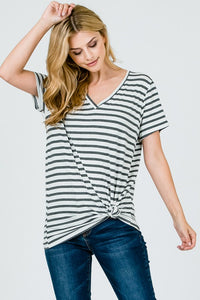 The Madelyn Oversized Striped Tunic Tee- 2 Colors!