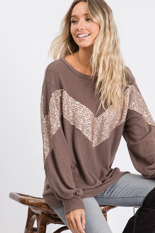 All that Glitters Baby French Terry Pullover