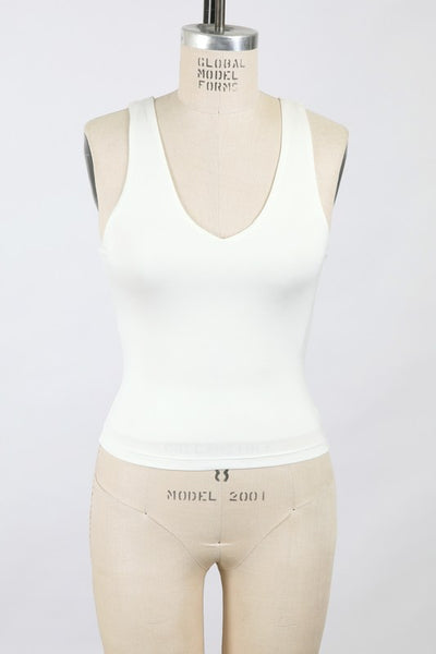 Essential Double Layered V-Neck Tank Top-2 Colors!