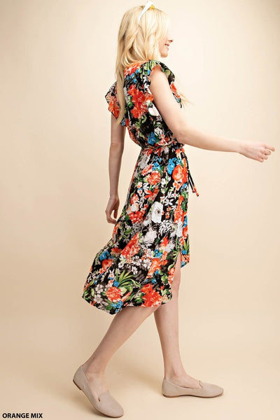 The Candice Floral Print Wrap Dress