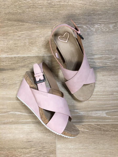 Perfectly Posh Blush Suede Wedge