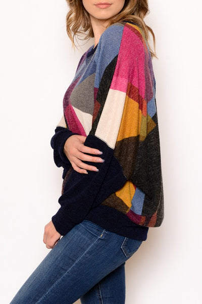 Geometric Dolman Sweater