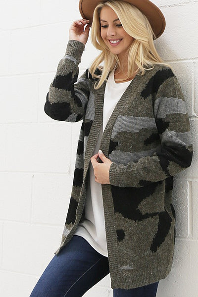 The Perfect Camo Cardigan