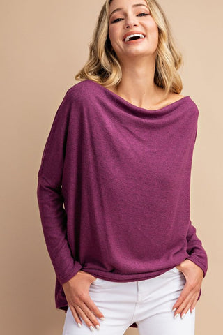 PRE-ORDER ITEM!!! All the Snuggles Knit Top in Magenta