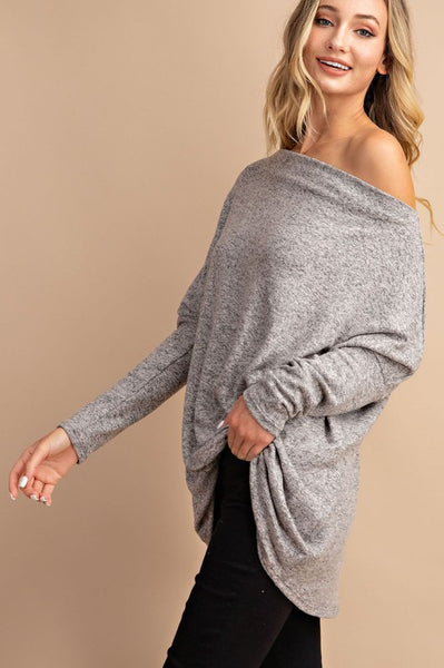 RESTOCKED!!!! All the Snuggles Knit Top in Oatmeal