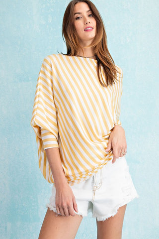 Lemon Zest Dolman Tunic Top