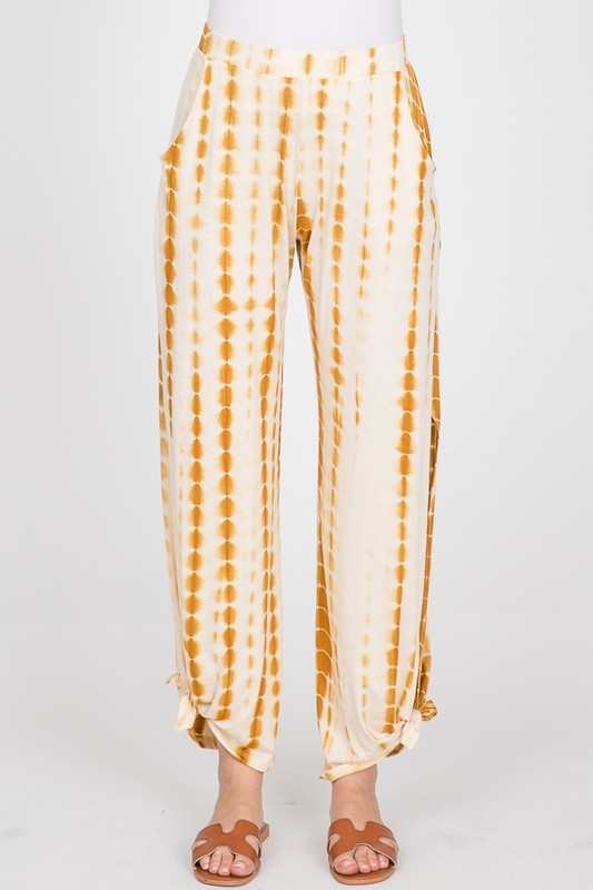 Bright as Day Yellow Split Side Hem Pants