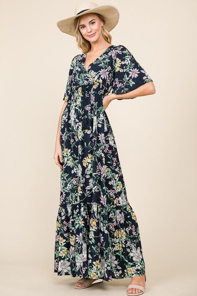 The Garden Floral Wrap Maxi Dress