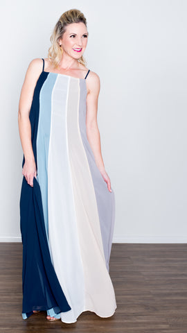 Pastel Nights Goddess Maxi Dress